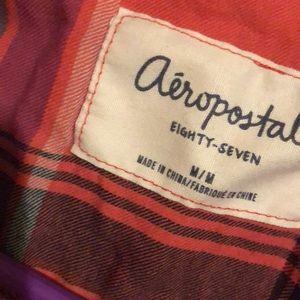Aeropostale Tops - Pink plaid shirt